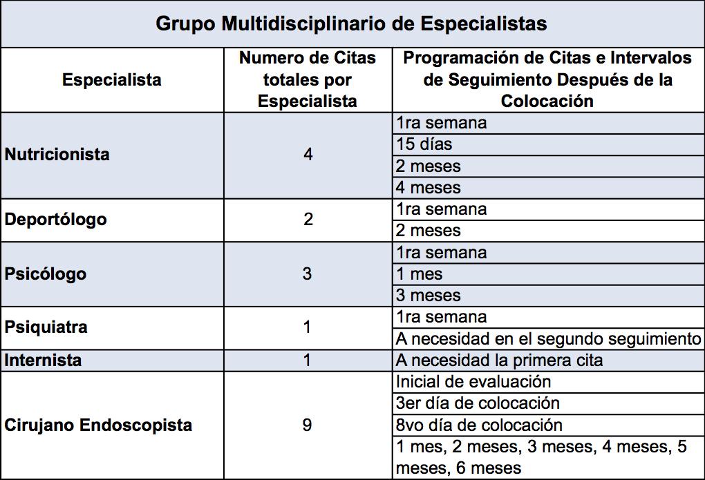 especialistas grupo de obesidad