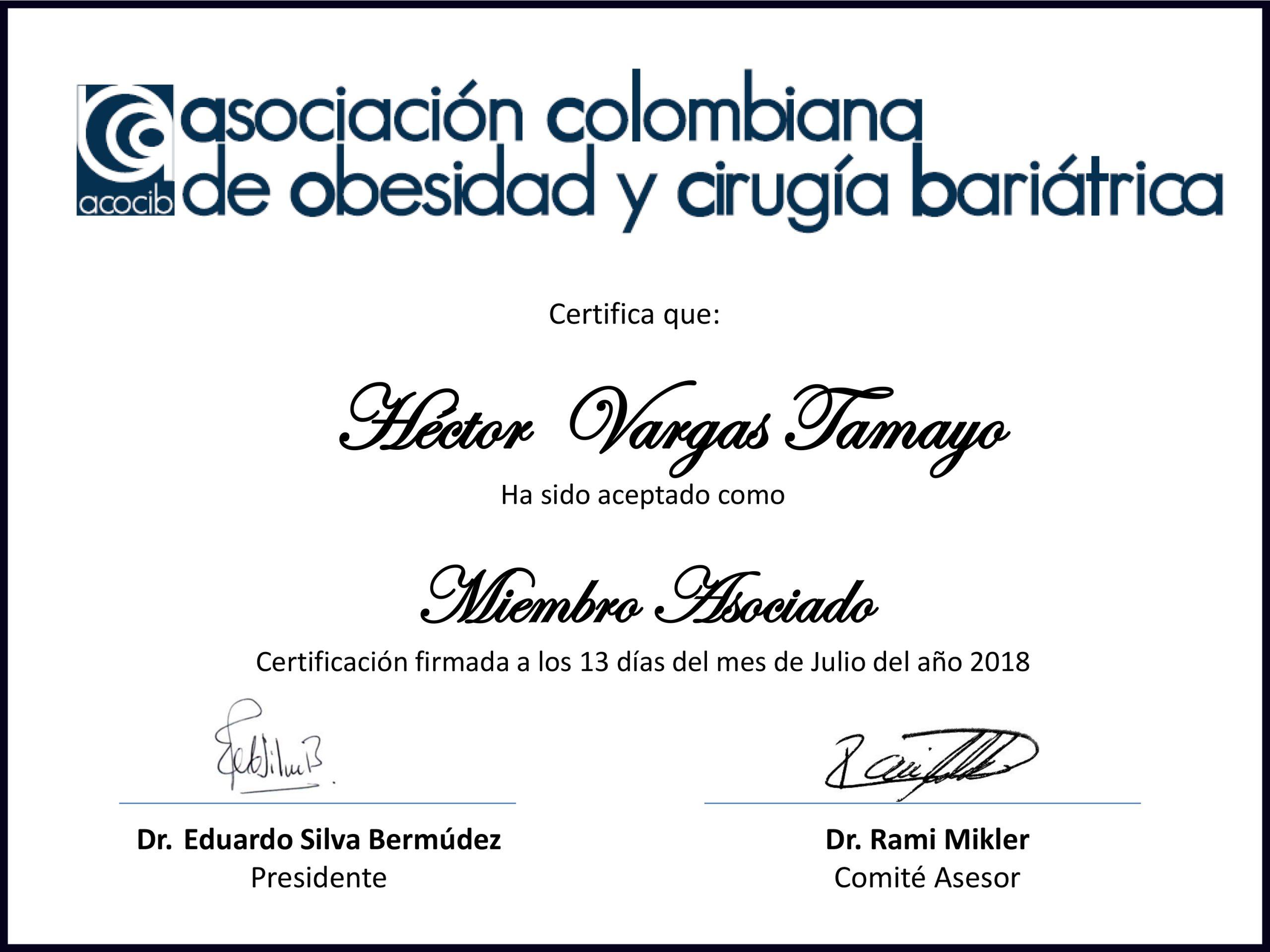 certificado acocib