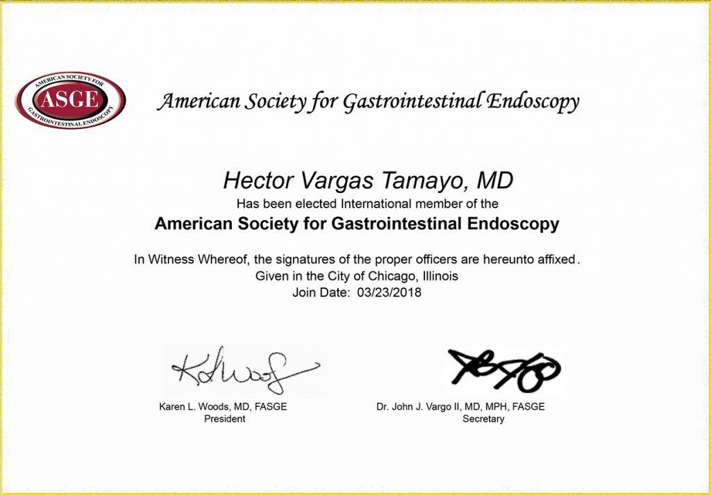 asge member certificate